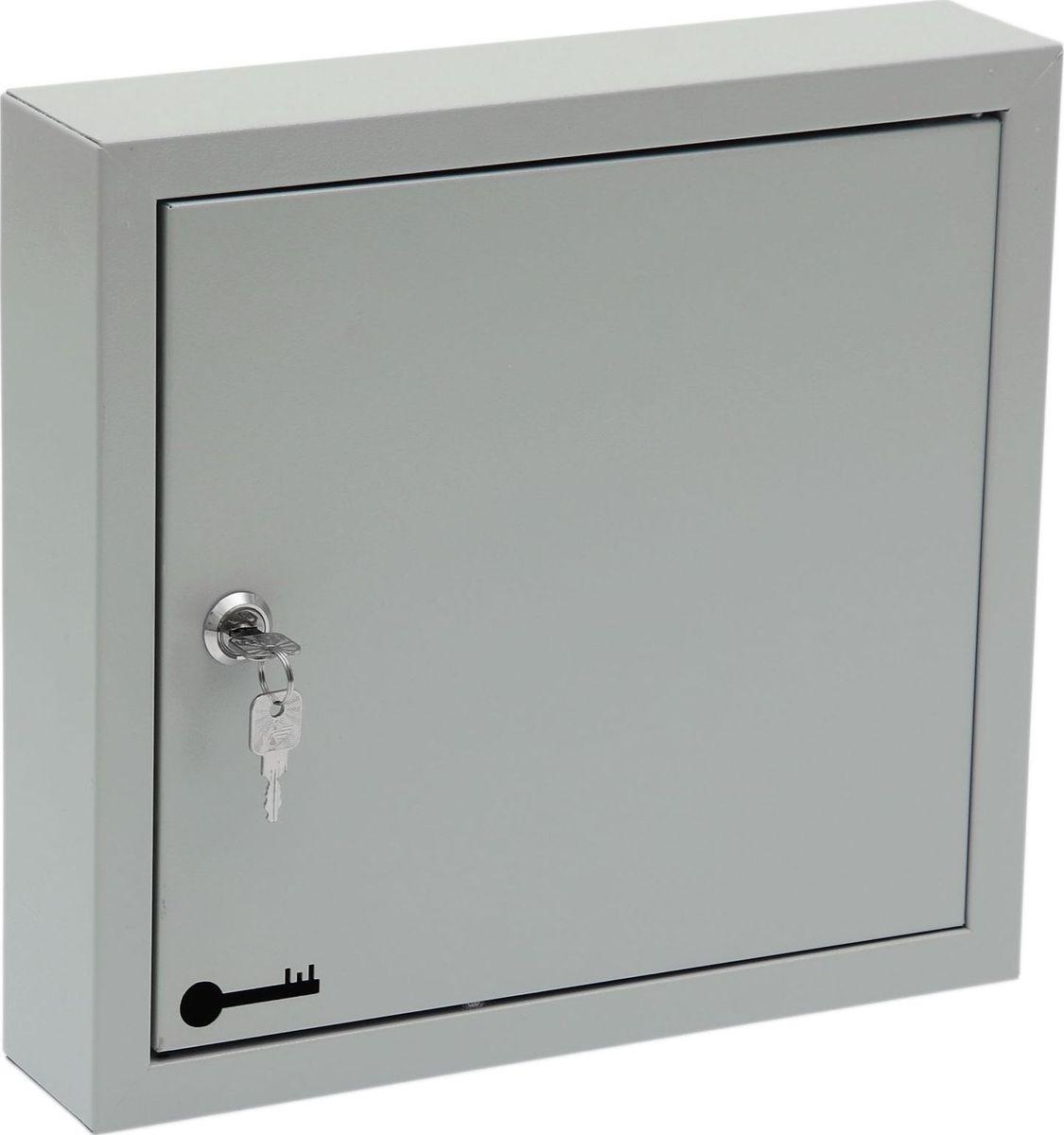 Ключница настенная ОТК, 40 крючков, 40 бирок, 31 х 33 х 7 см1723839Ключница ОТК станет полезным и очень красивым приобретением для вашего дома. Прикрепите ее на удобное место в прихожей, и ваши ключи всегда будут под рукой. Корпус и дверца выполнены из металла и закрываются на замок. Внутри имеются стальные крючки, которые, в отличие от пластмассовых, не подвержены деформации.Преимущества:- прочная стальная конструкция;- предусмотрено крепление к стене;- встроенный замок с ключом входит в комплект;- порошковое полимерное покрытие. Ключница содержит: 40 крючков; 40 бирок.