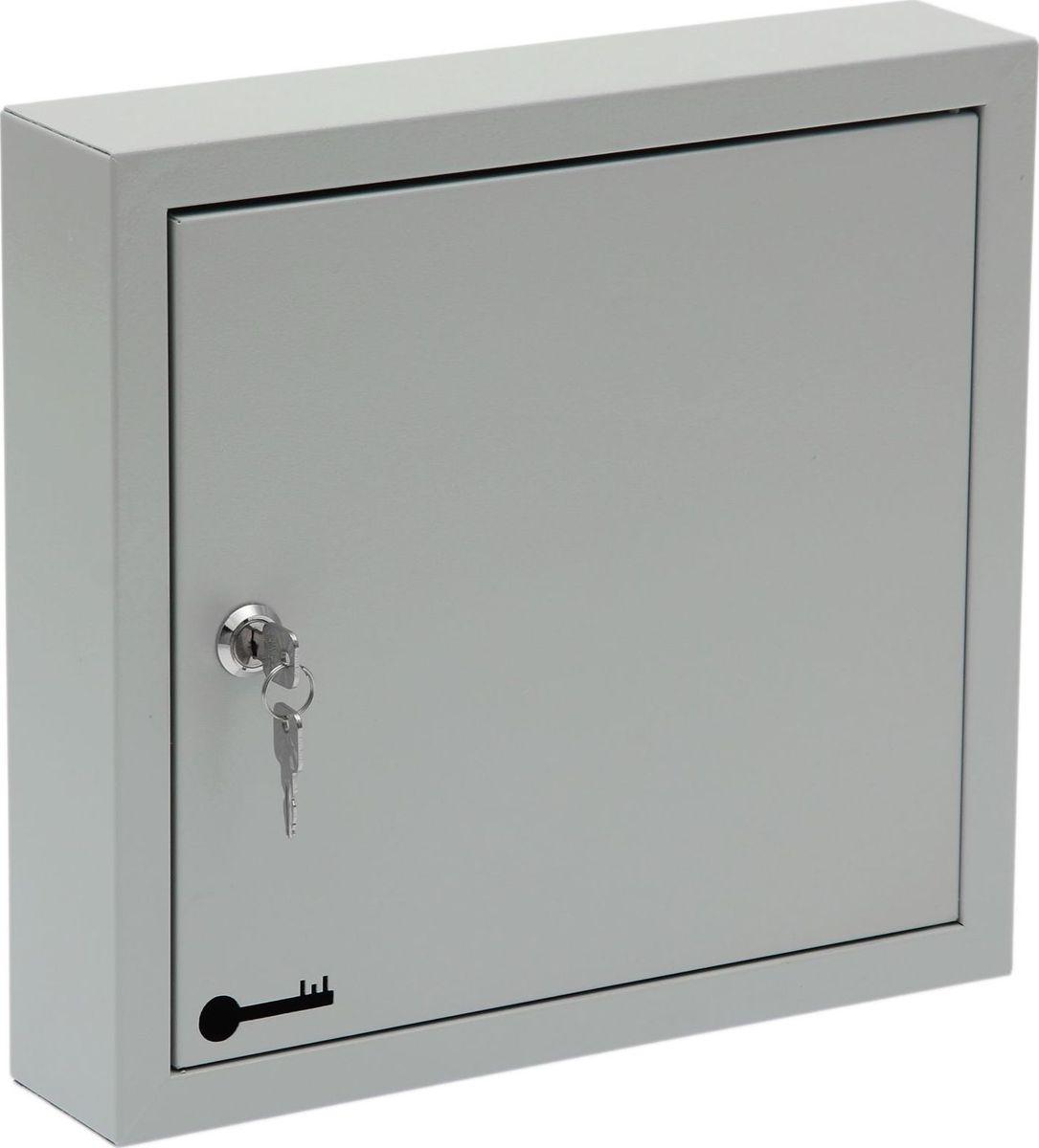 Ключница настенная ОТК, 31 х 33 х 7 см. 17238401723840Изделие предназначено для удобного и безопасного хранения большого количества ключей. Корпус и дверца выполнены из металла и закрываются на замок. Внутри имеются стальные крючки, которые, в отличие от пластмассовых, не подвержены деформации. Преимущества:- прочная стальная конструкция - предусмотрено крепление к стене - встроенный замок с ключом входит в комплект - порошковое полимерное покрытие - оптимальное соотношение цены и качества.