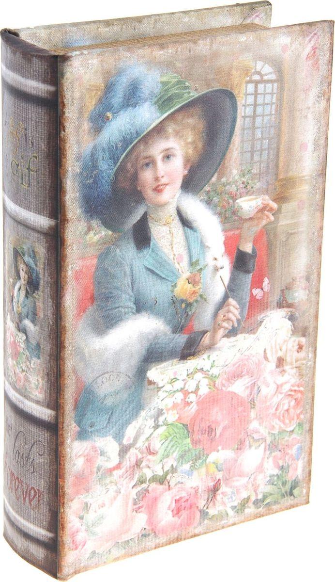 Ключница-книга настенная Девушка в розах, 21 х 13 х 5 см184674Вы когда-нибудь видели висящую на стене книгу? Теперь вы можете повесить ее в собственной прихожей, и это будет не эксцентричной выходкой, а простым и удобным решением, ведь за обложкой, так похожей на книжную, скрывается… ключница! Стильная и оригинальная, она станет настоящим украшением Вашего дома и значительно облегчит поиск ключей по утрам: пройти мимо такой ключницы почти невозможно, а значит, вы вряд ли будете впредь оставлять связку ключей на комоде, кухонной полке или журнальном столике. Украсьте интерьер своего дома полезным и элегантным аксессуаром!