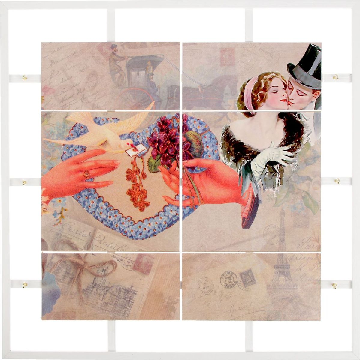 Zakazat.ru Ключница настенная АГТ-Профиль Сердце с голубем, 45 х 45 х 5 см