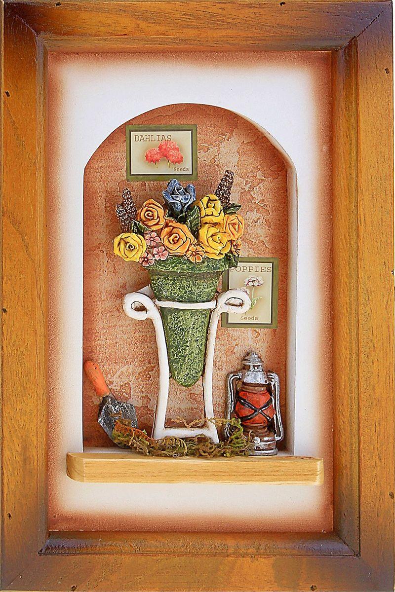 Ключница настенная Кашпо с цветами в арке, 24 х 15,5 х 5,5 см503911Если вы любите сочетание элегантности и удобства, такая ключница вряд ли останется без вашего внимания. Она поможет выработать полезную привычку не оставлять ключи ни на кухонном столе, ни на этажерке, ни у зеркала, а вешать их на специально предназначенные для этого крючки. Она не только сэкономит ваше время, но и украсит собой прихожую. Такая ключница как нельзя лучше подойдет для тех, кто ценит тепло домашнего очага и старается сделать свой дом таким уютным, чтобы его не хотелось покидать даже на короткий срок. Оригинальный и практичный подарок.