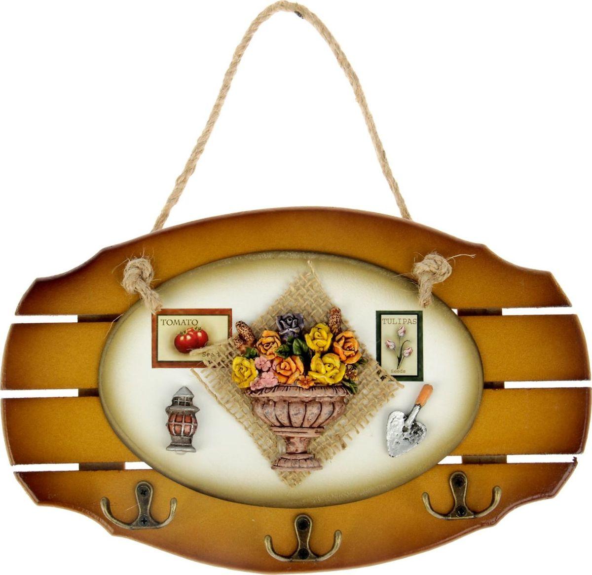 Ключница настенная Икебана, 26 х 15 х 1,5 см кофейник bodum brazil с прессом цвет белый 1 л