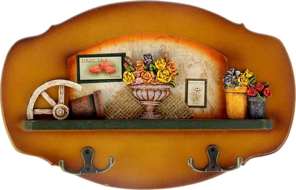 Ключница настенная Цветник, 29 см х 19 см х 3,5 см547911Истинные хозяйки и хранительницы домашнего очага не понаслышке знают, что для того, чтобы дом стал по-настоящему уютным, важно не упускать из виду ни единой мелочи. Такие небольшие детали, как декоративные крючки, с успехом могут стать не только полезным предметом, но и изящным украшением интерьера. Небольшое панно с закрепленными на нем крючками, кажется, буквально проникнуто домашним теплом и уютом. Оно станет замечательным аксессуаром для дома, который не хочется покидать.