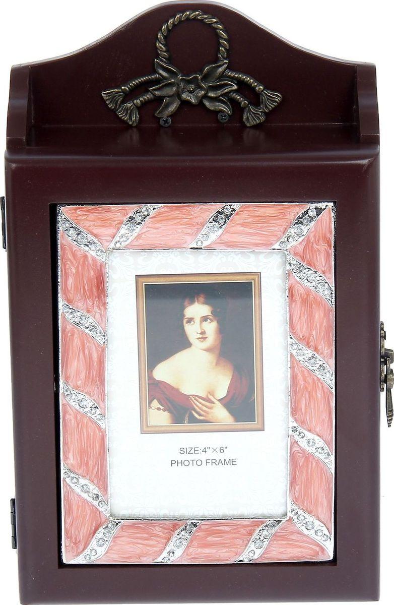 Zakazat.ru Ключница настенная Розовая дымка, с фоторамкой, 28,5 х 17,5 х 7 см