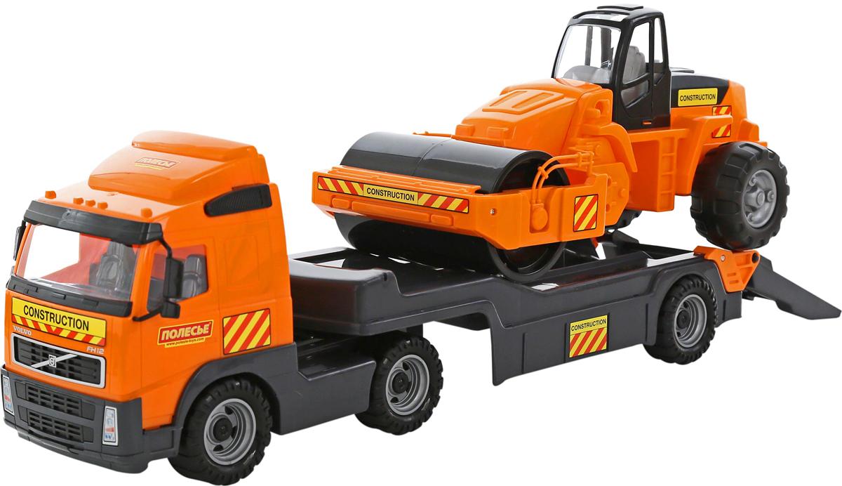 Полесье Трейлер Volvo и дорожный каток 9630 полесье набор для песочницы 406