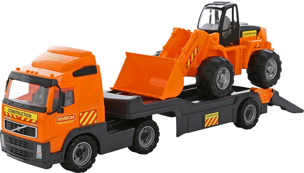 Полесье Трейлер Volvo с трактором-погрузчиком полесье полесье игровой набор mammoet volvo автомобиль трейлер и трактор погрузчик