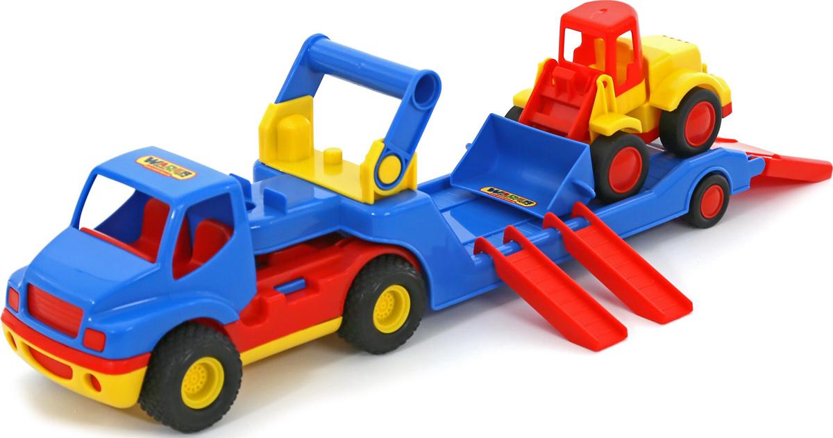 Полесье Трейлер КонсТрак и Погрузчик Базик машина детская полесье полесье набор автомобиль трейлер трактор погрузчик