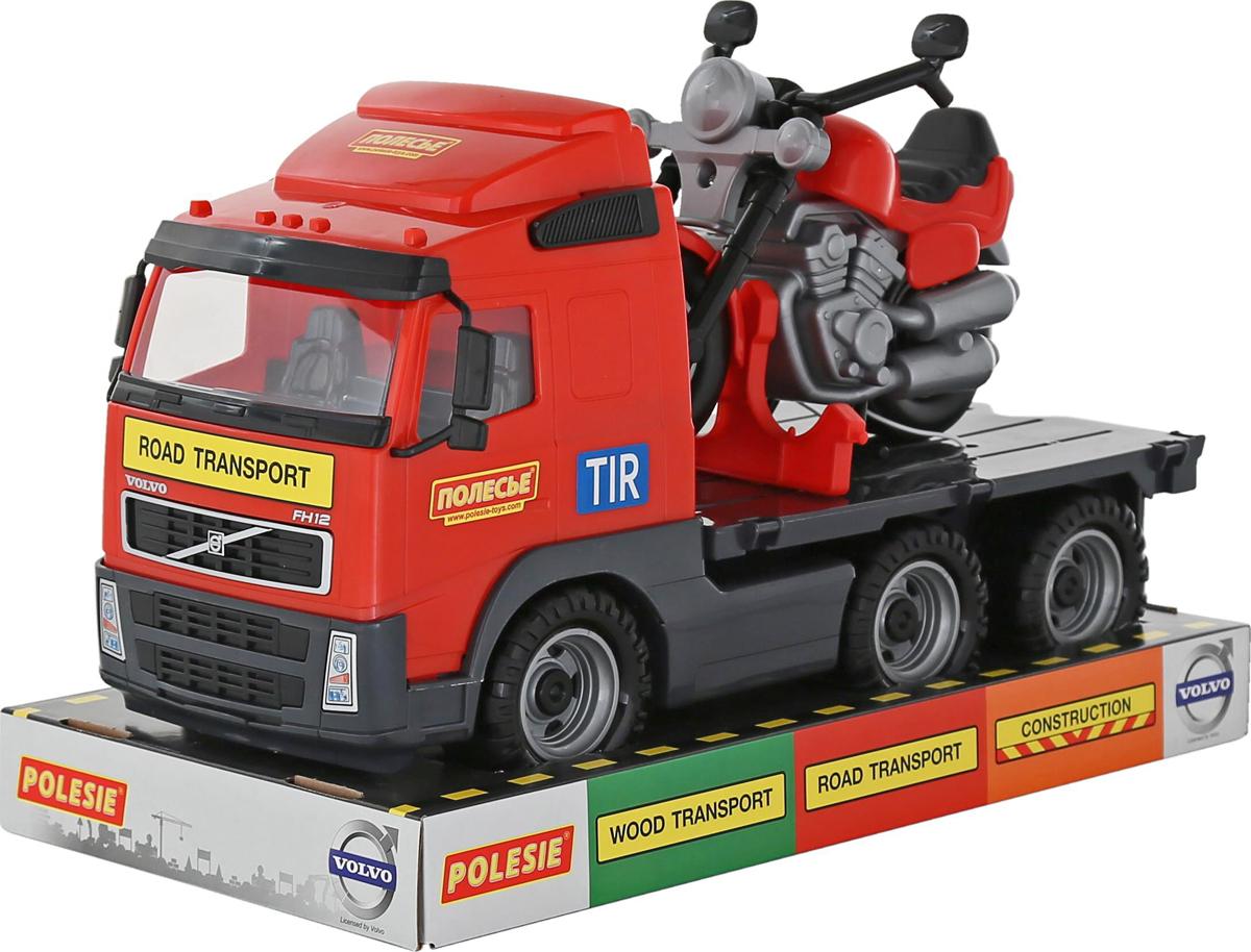 Полесье Тягач Volvo и мотоцикл гоночный Байк полесье набор для песочницы 406