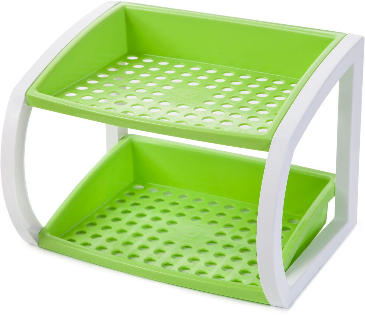 Подставка кухонная Berossi Hokky, универсальная, цвет: светло-зеленый, 24,7 х 18,3 х 18 смИК 17538000Универсальная настольная подставка Hokky выполнена прочного пластика, легко собирается и имеет очень широкую сферу применения: - в ванной - для хранения косметических принадлежностей;- на кухне - можно поставить подставку для специй, сахарницу, емкость с печеньем;- в прихожей - использовать под средства для ухода за обувью и сложенные зонты;- возле столика для новорожденного - удобно разместить под рукой все детские кремы, присыпки, бутылочки и соски;- для хранения канцелярских принадлежностей в любом удобном месте.