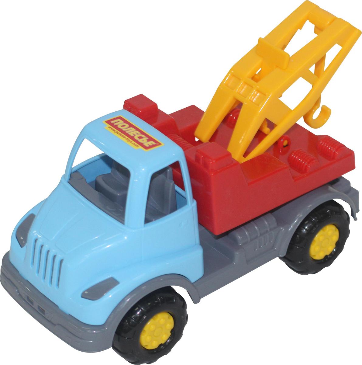 Полесье Эвакуатор Леон цвет красный голубой желтый игрушечные машинки на пульте управления по грязи купить