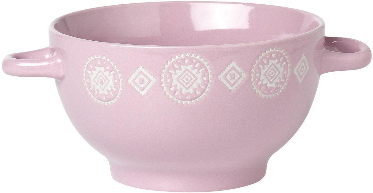 Бульонница Rainbow Византия, цвет: розовый, белый, 600 мл. TL22-3L2430903Бульонница Rainbow Византия, изготовленная из высококачественной глазурованной керамики, оснащена двумя ручками для удобной переноски.Такая стильная бульонница украсит сервировку вашего стола.