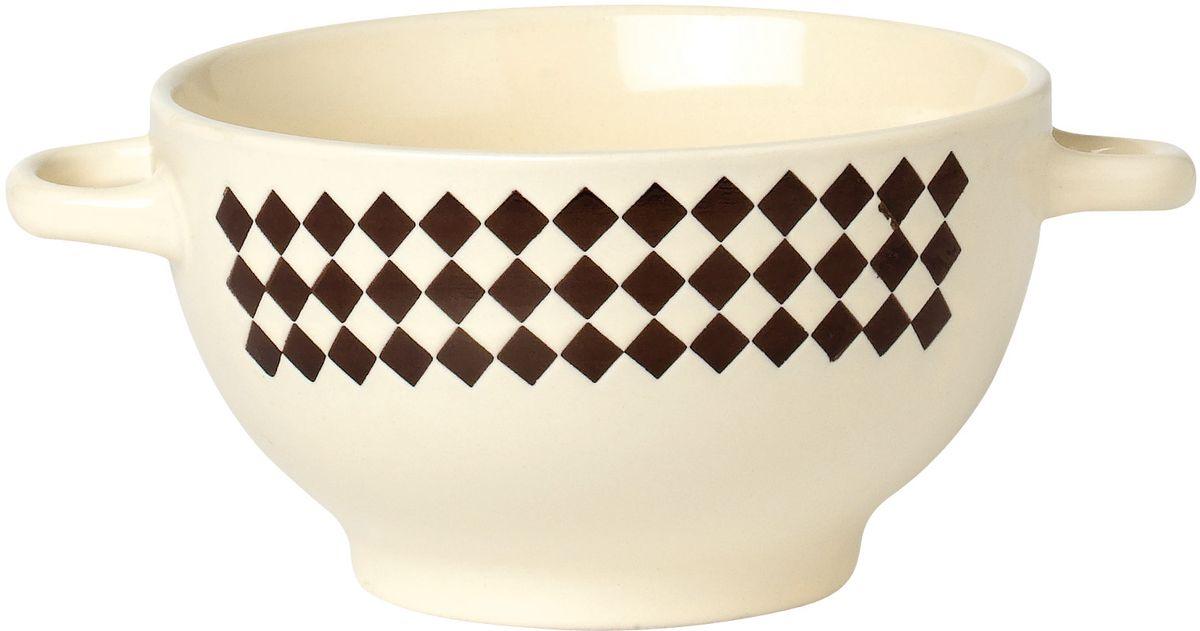 """Бульонница Rainbow """"Александрия"""", изготовленная из  высококачественной глазурованной керамики, оснащена двумя  ручками для удобной переноски.  Такая стильная бульонница украсит сервировку вашего стола."""