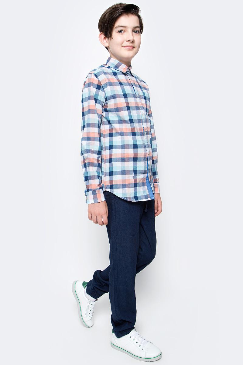 Джинсы для мальчика Sela Denim, цвет: темно-синий джинс. PJ-835/309-7213. Размер 140, 10 летPJ-835/309-7213Стильные джинсы для мальчика Sela выполнены из натурального хлопка. Джинсы свободного кроя и стандартной посадки на талии имеют широкий пояс на мягкой резинке, дополнительно регулируемый тесьмой. Модель дополнена двумя втачными карманами спереди и двумя накладными карманами сзади. Низ брючин собран на резинку.