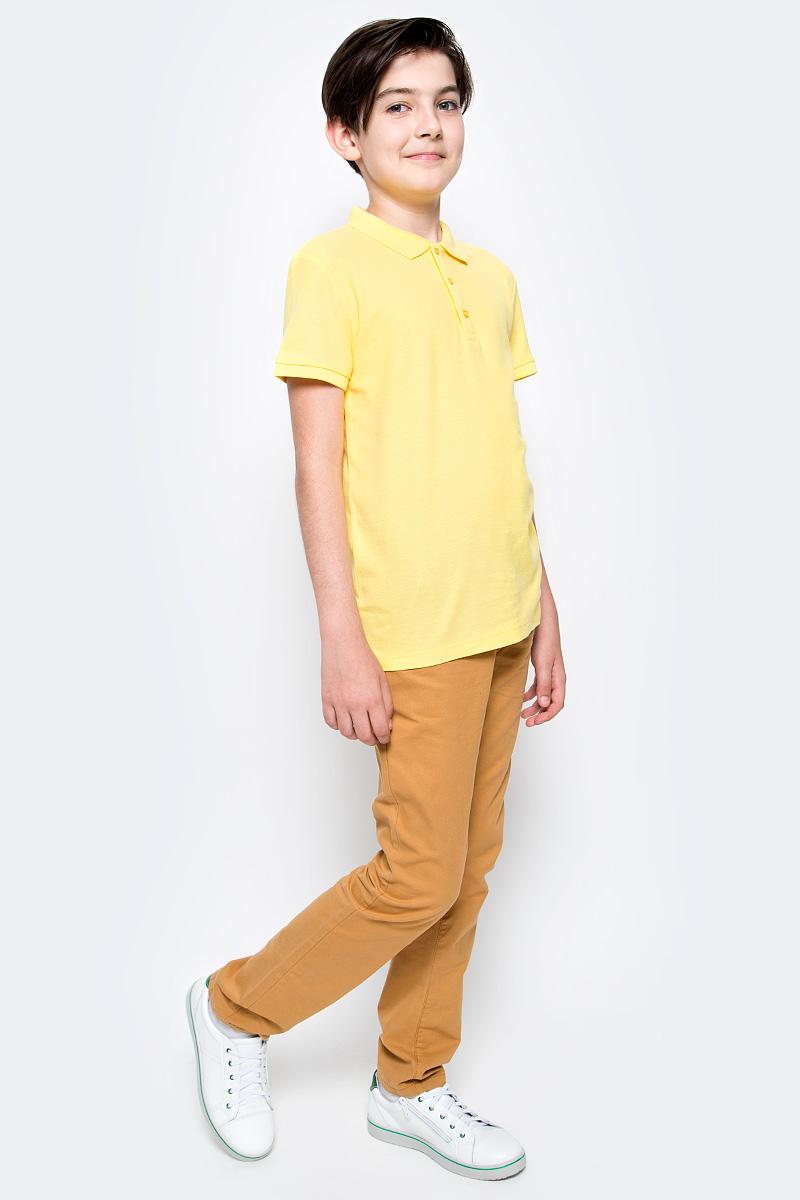 Поло для мальчика Sela, цвет: ярко-желтый. Tsp-811/607-7224. Размер 128Tsp-811/607-7224Стильная футболка-поло для мальчика Sela выполнена из натурального хлопка Модель прямого кроя с отложным воротничком, застегивающимся на пуговицы, подойдет для прогулок и дружеских встреч и будет отлично сочетаться с джинсами, брюками и шортами.Яркий цвет модели позволяет создавать стильные образы.