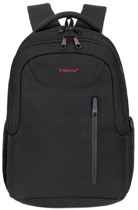 Tigernu T-B3204, Black рюкзак для ноутбука 15,6T-B3204Рюкзак Tigernu T-B3204 отлично подойдет для работы, учебы или путешествий. Сделан из высокопрочного, водоотталкивающего материала нейлона 1200D. Довольно легкий. Отделение для ноутбука и планшета со вставкой из защитной пены, которое защитит ваши устройства от царапин и других повреждений. Основное отделение с двойной молнией (защита от кражи). Модель включает в себя: передний карман на молнии, основное отделение, дополнительное отделение, один боковой карман на молнии, и один сетчатый боковой карман на резинке, скрытый карман в спинке рюкзака.