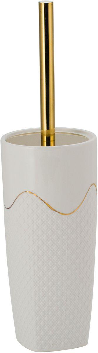 Ершик для унитаза Swensa  Конте , напольный, керамика, цвет: белый - Аксессуары для туалетной комнаты