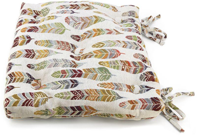 Подушка на стул KauffOrt Апачи, цвет: бежевый, 40 х 40 см