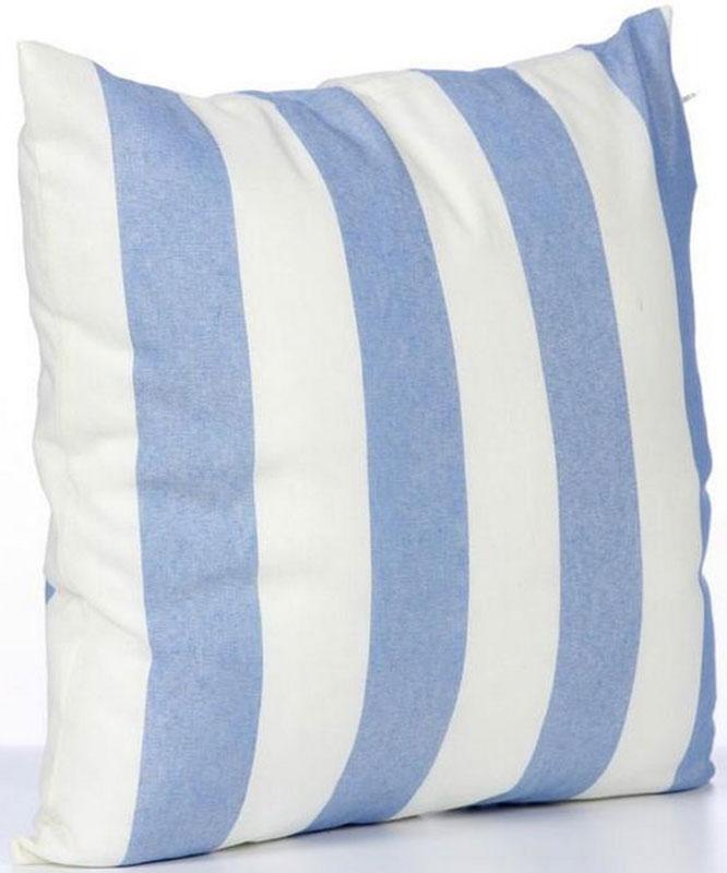 Подушка декоративная KauffOrt Кипр, цвет: голубой, 39 х 39 см3122104640Декоративная подушка KauffOrt  прекрасно дополнит интерьер спальни или гостиной. Чехол подушки выполнен из полотна (32% хлопок, 38% полиэстер, 30% акрил). Внутри находится мягкий наполнитель. Чехол легко снимается благодаря потайной молнии.