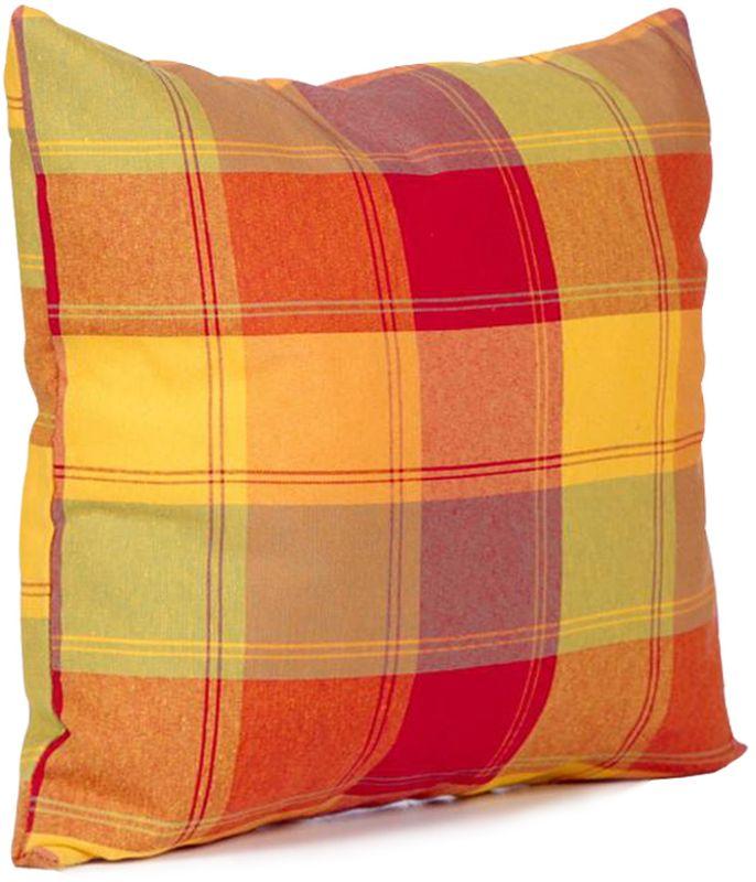Подушка декоративная KauffOrt Гватемала, цвет: оранжевый, красный, 39 х 39 см3122106673Декоративная подушка KauffOrt Гватемала - это аксессуар, способный украсить и оживить интерьер любого помещения. С ее помощью, вы сможете подчеркнуть общее стилистическое решение комнаты или кухни и грамотно расставить цветовые акценты. Дополните ваш диван или кровать этой подушкой, и привычная мебель станет еще уютнее, чем раньше. При этом такое изделие может стать хорошим подарком близкому человеку. Компактные размеры декоративной подушки позволяют использовать ее не только в помещении, но и брать с собой в дорогу. Чехол подушки выполнен из текстиля и украшен стильным принтом. В качестве наполнителя выступает, скрепленный термостежкой холлофайбер.Размер: 39 х 39 см.