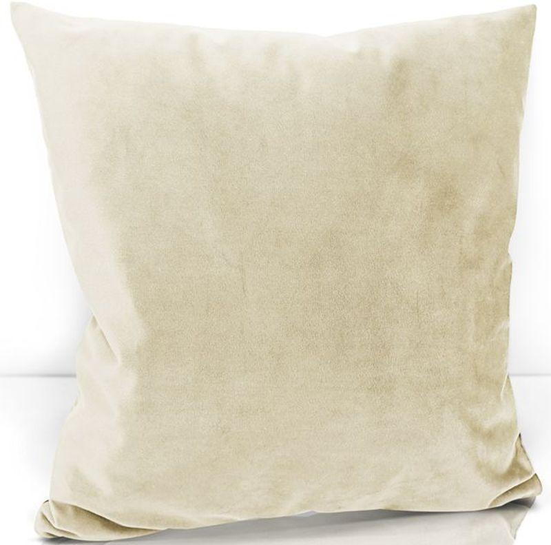 Подушка декоративная KauffOrt Велюр, цвет: слоновая кость, 40 х 40 см3122202615Декоративная подушка KauffOrt  прекрасно дополнит интерьер спальни или гостиной. Чехол подушки выполнен из велюра (100% полиэстер). Внутри находится мягкий наполнитель. Чехол легко снимается благодаря потайной молнии.