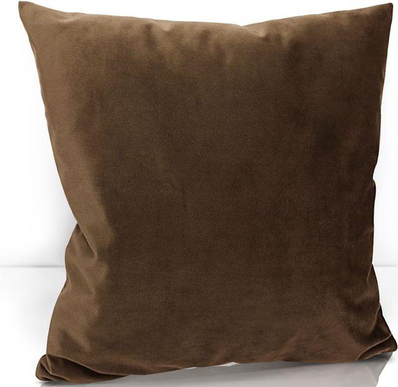 Подушка декоративная KauffOrt Велюр, цвет: темно-коричневый, 40 х 40 см3122202637Декоративная подушка KauffOrt  прекрасно дополнит интерьер спальни или гостиной. Чехол подушки выполнен из велюра (100% полиэстер). Внутри находится мягкий наполнитель. Чехол легко снимается благодаря потайной молнии.