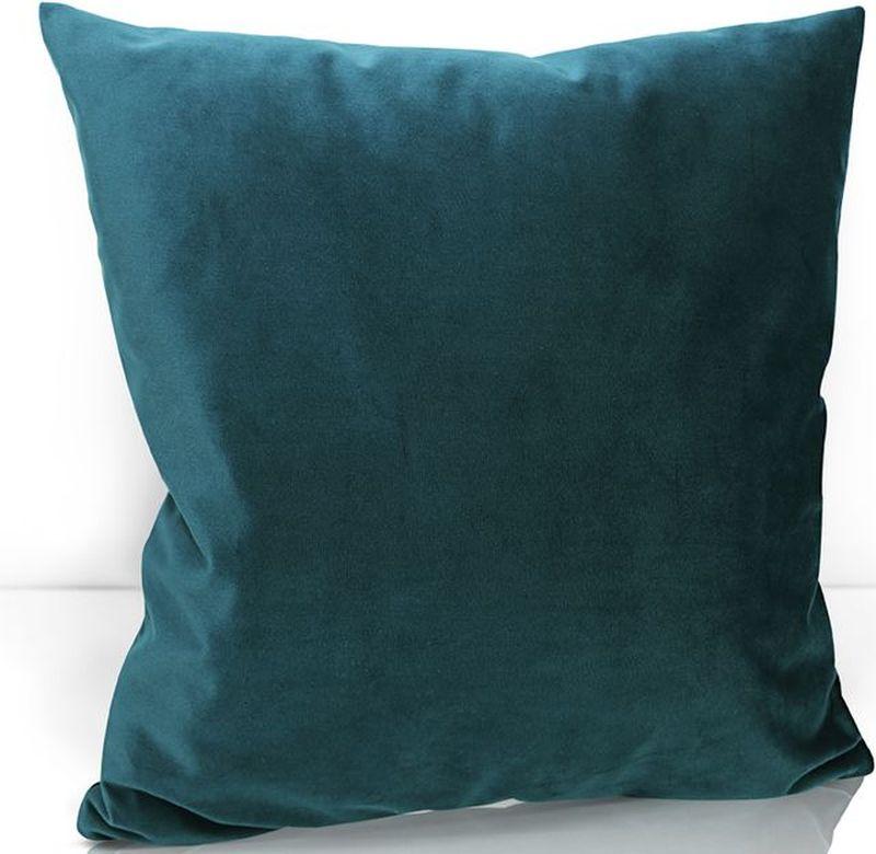 Подушка декоративная KauffOrt Велюр, цвет: синий, 40 х 40 см3122202640Декоративная подушка KauffOrt  прекрасно дополнит интерьер спальни или гостиной. Чехол подушки выполнен из велюра (100% полиэстер). Внутри находится мягкий наполнитель. Чехол легко снимается благодаря потайной молнии.
