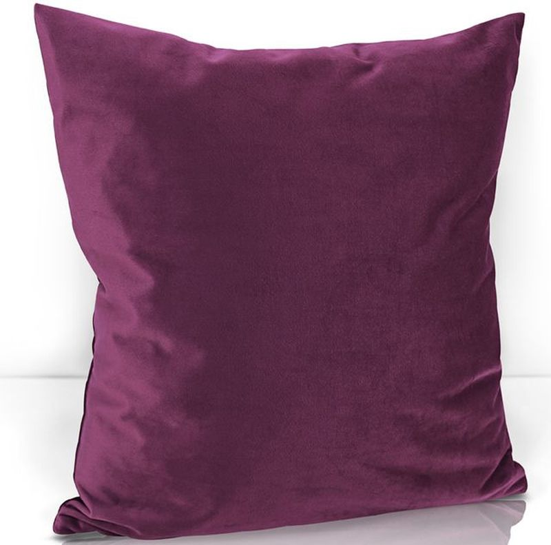 Подушка декоративная KauffOrt Велюр, цвет: бордово-фиолетовый, 40 х 40 см3122202645Декоративная подушка KauffOrt  прекрасно дополнит интерьер спальни или гостиной. Чехол подушки выполнен из велюра (100% полиэстер). Внутри находится мягкий наполнитель. Чехол легко снимается благодаря потайной молнии.