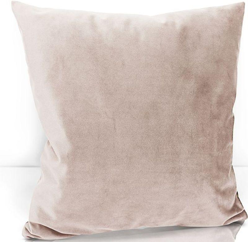 Подушка декоративная KauffOrt Велюр, цвет: светло-розовый, 40 х 40 см3122202671Декоративная подушка KauffOrt  прекрасно дополнит интерьер спальни или гостиной. Чехол подушки выполнен из велюра (100% полиэстер). Внутри находится мягкий наполнитель. Чехол легко снимается благодаря потайной молнии.