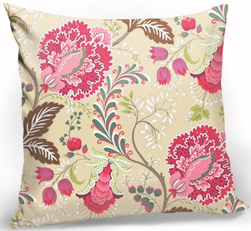 Подушка декоративная KauffOrt Кася, цвет: мультиколор, 40 х 40 см штора легкая kauffort barolo