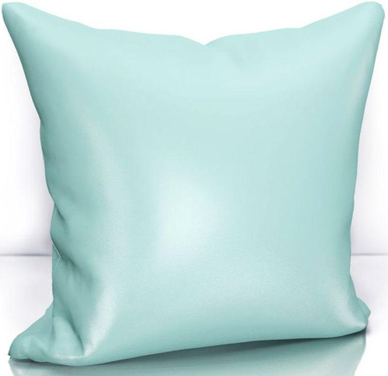 Подушка декоративная KauffOrt Эвелина, цвет: голубой, 40 х 40 см3122301640Декоративная подушка KauffOrt  прекрасно дополнит интерьер спальни или гостиной. Чехол подушки выполнен из сатена (100% полиэстер). Внутри находится мягкий наполнитель. Чехол легко снимается благодаря потайной молнии.