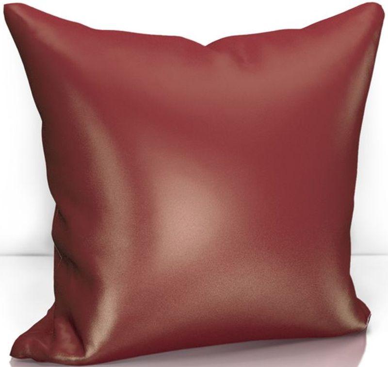 Подушка декоративная KauffOrt Эвелина, цвет: бордовый, 40 х 40 см3122301676Декоративная подушка KauffOrt  прекрасно дополнит интерьер спальни или гостиной. Чехол подушки выполнен из сатена (100% полиэстер). Внутри находится мягкий наполнитель. Чехол легко снимается благодаря потайной молнии.