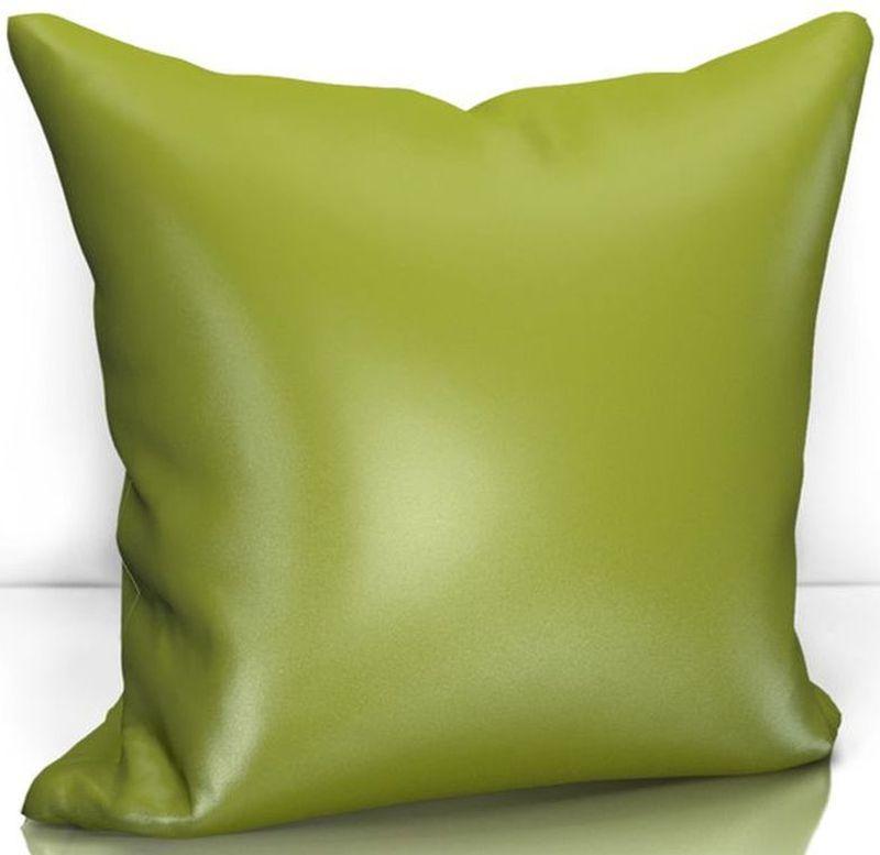 Подушка декоративная KauffOrt Эвелина, цвет: зеленый, 40 х 40 см3122301686Декоративная подушка KauffOrt  прекрасно дополнит интерьер спальни или гостиной. Чехол подушки выполнен из сатена (100% полиэстер). Внутри находится мягкий наполнитель. Чехол легко снимается благодаря потайной молнии.