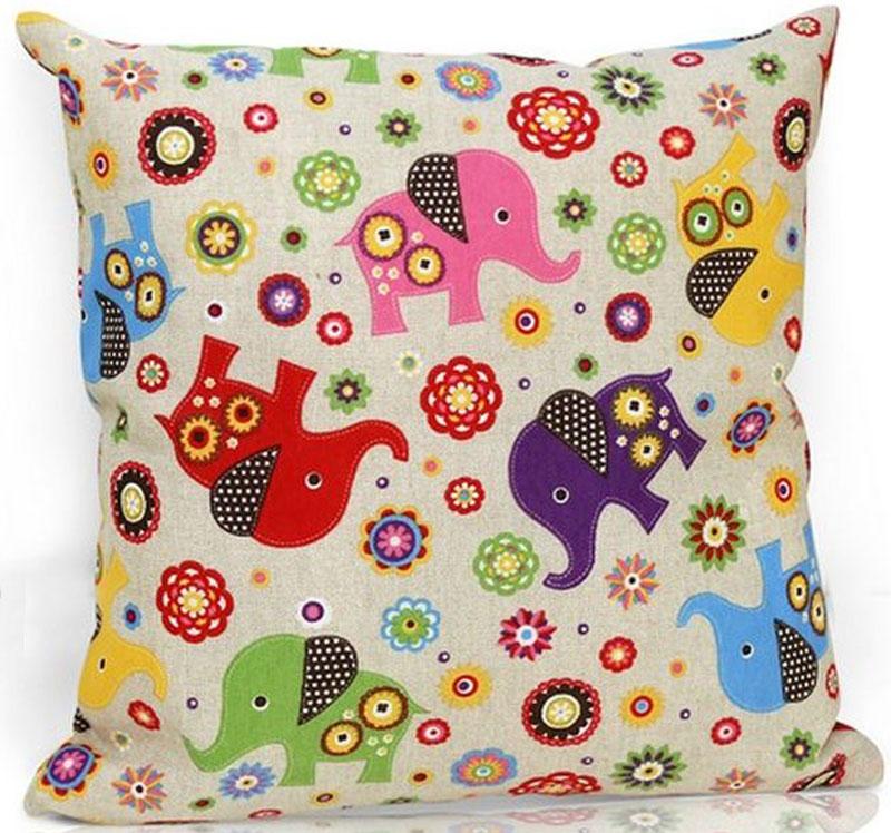 Подушка декоративная KauffOrt Киндер, цвет: мультиколор, 40 х 40 см штора легкая kauffort barolo