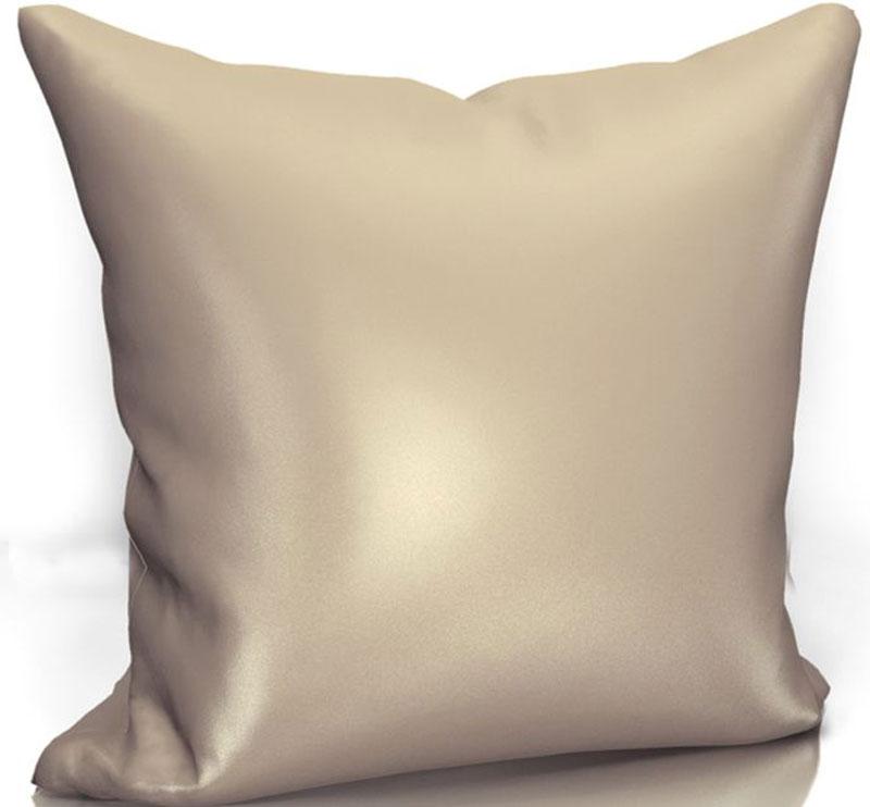 Подушка декоративная KauffOrt Эвелина, цвет: светло-коричневый, 40 х 40 см3122301667Декоративная подушка KauffOrt  прекрасно дополнит интерьер спальни или гостиной. Чехол подушки выполнен из сатена (100% полиэстер). Внутри находится мягкий наполнитель. Чехол легко снимается благодаря потайной молнии.