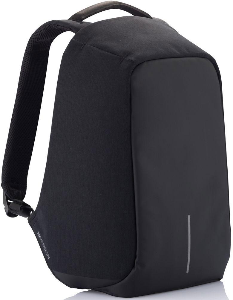 Рюкзак для ноутбука XD Design Bobby, до 15, цвет: черный, серый, 13 лP705.541Рюкзак XD Design Bobby - стильный, удобный, продуманный до мелочей рюкзак для настоящего гика с системой защиты от краж. Детально проработанная организация отделов позволяет грамотно распределить вес и снизить нагрузку на плечи. На первый взгляд незаметная молния в основной отдел идет прямо по краю спинки самого рюкзака. Уникальная концепция позволяет открывать рюкзак под тремя разными углами: 30°, 90°, 180°. Для создания прочной конструкции и защиты от порезов используется пять слоев из разного типа материалов.- Полная защита от карманников: не открыть, не порезать.- USB-порт для зарядки гаджетов.- Светоотражающие полосы.- Супер-легкий: на 25% легче аналогов.- Отделение для ноутбука до 15,6.- Отделение для планшета.- Влагозащита.- Лямка для крепления на чемодан.