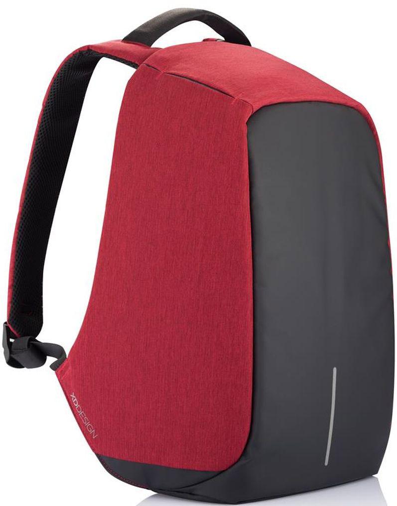 Рюкзак для ноутбука XD Design Bobby, до 15, цвет: красный, 13 лP705.544Стильный, удобный, продуманный до мелочей городской рюкзак для настоящего гика с системой защиты от краж. Детально проработанная организация отделов позволяет грамотно распределить вес и снизить нагрузку на плечи. На первый взгляд незаметная молния в основной отдел идет прямо по краю спинки самого рюкзака. Уникальная концепция позволяет открывать рюкзак под тремя разными углами: 30°, 90°, 180°. Для создания прочной конструкции и защиты от порезов используется пять слоев из разного типа материалов.• Полная защита от карманников: не открыть, не порезать.• USB-порт для зарядки гаджетов от спрятонного внутри рюкзака аккумулятора.• Светоотражающие полосы.• Супер-легкий: на 25% легче аналогов.• Отделение для ноутбука до 15,6.• Отделение для планшета.• Влагозащита.• Лямка для крепления на чемодан.