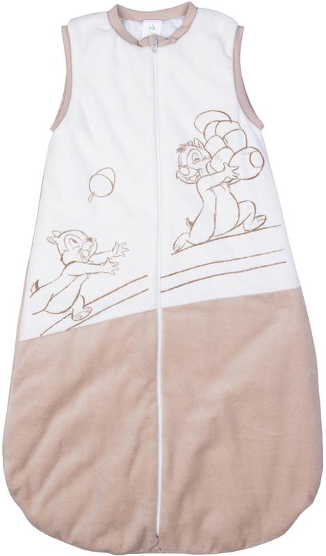Конверт для новорожденного для мальчика PlayToday, цвет: бежевый, белый. 577808. Размер 56/62577808Утепленный велюровый конверт для сна PlayToday - отличная замена одеялу. Модель на молнии, специальный карман для фиксации бегунка не позволит застежке травмировать нежную детскую кожу. Горловина и пройма рукавов на мягких трикотажных резинках для дополнительного сохранения тепла. Подкладка из натурального хлопка отлично впитывает лишнюю влагу, гипоаллергена. Конверт декорирован лицензионными принтами Disney.