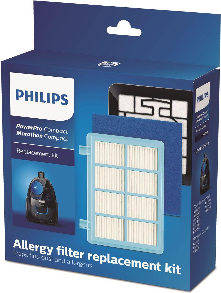Philips FC8010/01 фильтр для пылесосаFC8010/01Набор сменных противоаллергенных фильтров совместим с моделями Philips PowerPro Compact. В набор входят фильтр защиты мотора и выходной фильтр, которые необходимо заменять один раз в год.