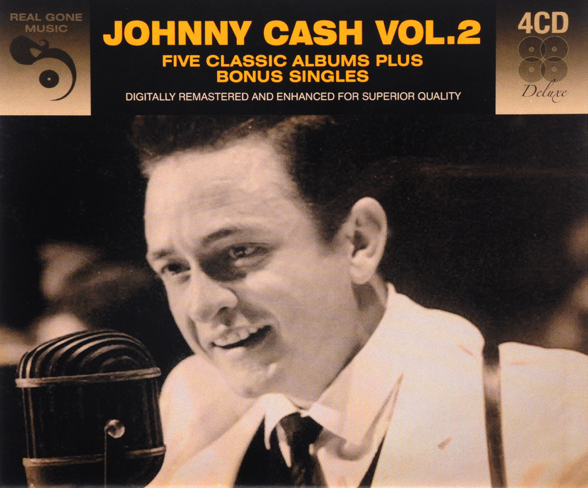 Джонни Кэш Johnny Cash. Johnny Cash Vol.2. Five Classic Albums Plus Bonus Singles (4 CD) джонни кэш johnny cash remixed