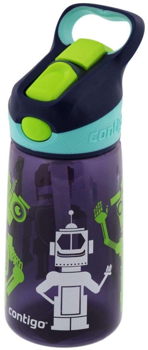 Contigo Детская бутылочка для воды Striker цвет темно-синийcontigo0347Детская бутылочка для воды Contigo Striker – это современная, безопасная и удобная детская пластиковая бутылочка, которая позволит навсегда забыть про досадные проливания воды и гарантирует сухость одежды малыша и салона вашего автомобиля. Удобный выдвижной носик обеспечивает гигиеничность и быстроту доступа к любимому напитку вашего ребенка. Он открывается при нажатии на специальную кнопку на крышке бутылочки. С помощью специальной ручки малыш получит возможность с удобством носить её, а также вешать на рюкзак, пояс или спортивный тренажер. Бутылочка изготовлена из экологически чистого пластика, который не содержит в своём составе Бисфенол А, не впитывает запахи и обладает защитой от окрашивания. Кроме этого, данная детская бутылочка отлично сохраняет температуру напитков.