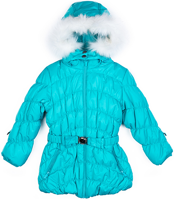 Куртка для девочки PlayToday, цвет: голубой. 372101. Размер 116372101Теплая стеганая куртка от PlayToday на молнии выполнена из ткани с водоотталкивающей пропиткой - отличное решение для холодной зимы. Специальный карман для фиксации бегунка на молнии не позволит застежке травмировать нежную детскую кожу. Модель дополнена капюшоном, декорированным искусственным мехом. При необходимости и капюшон, и мех можно отстегнуть. Пояс куртки с эффектной пряжкой. Манжеты и низ изделия на мягких резинках. Подкладка и внутренняя часть воротника выполнены из теплого флиса. Рукава дополнены специальными кольцами, на которые можно пристегнуть варежки или перчатки.Куртка с удобными вшивными карманами на молниях. Светоотражатели обеспечат безопасность ребенка - он будет виден в темное время суток.