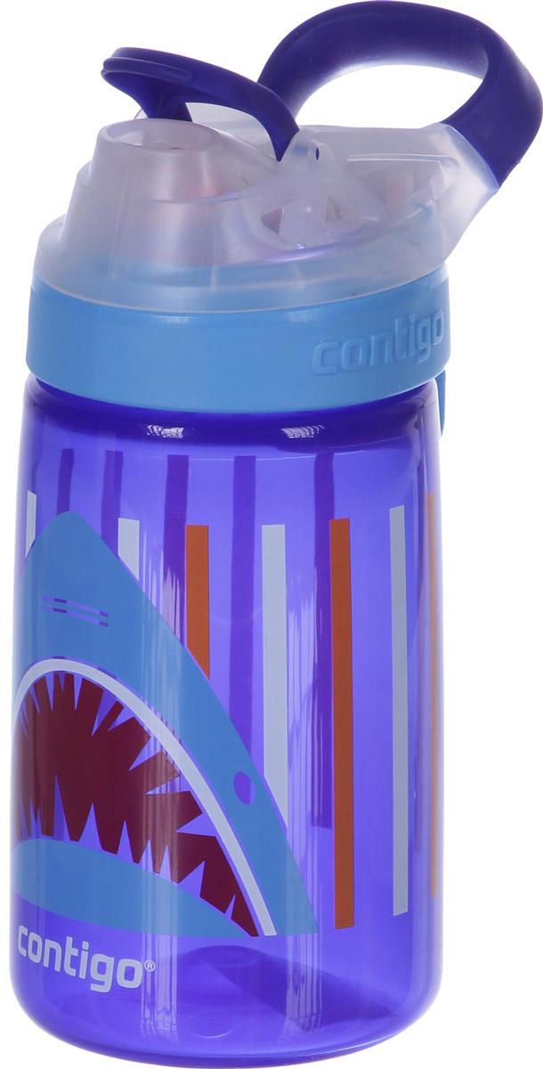 Contigo Детская бутылочка для воды Gizmo Sip 420 мл цвет синий детская бутылочка