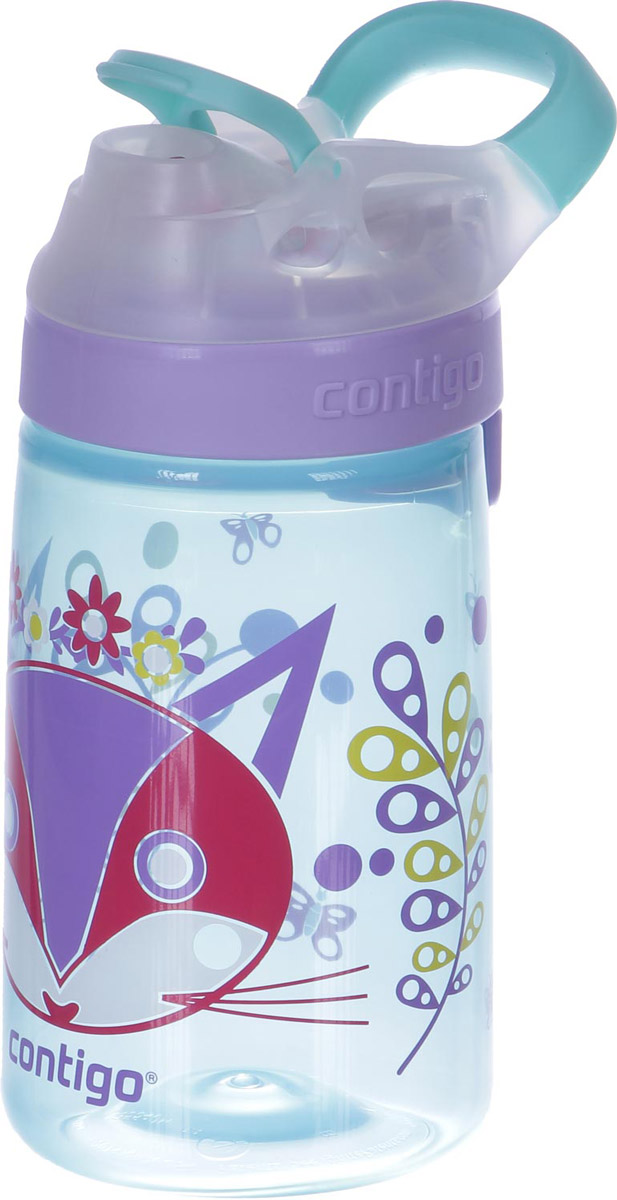 Contigo Детская бутылочка для воды Gizmo Sip 420 мл цвет голубой детская бутылочка