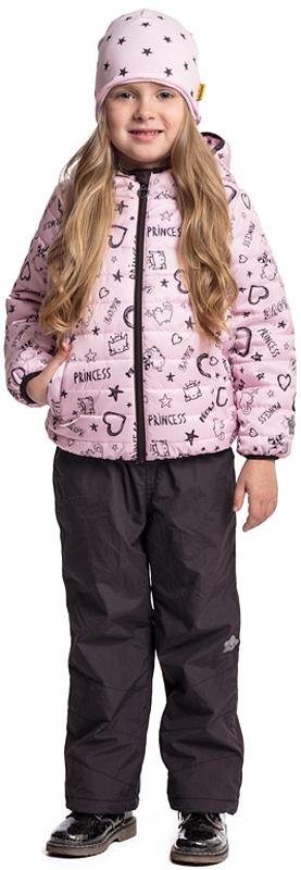 Куртка для девочки PlayToday, цвет: розовый, коричневый. 372003. Размер 116372003Яркая утепленная куртка PlayToday выполнена из водонепроницаемого материала. Модель на молнии, специальный карман для фиксации бегунка не позволит застежке травмировать нежную детскую кожу. Куртка с вшивным капюшоном. Низ, манжеты и контур капюшона на мягких резинках. Светоотражатели обеспечат видимость ребенка в темное время суток. Модель дополнена вшивными карманами на молнии.