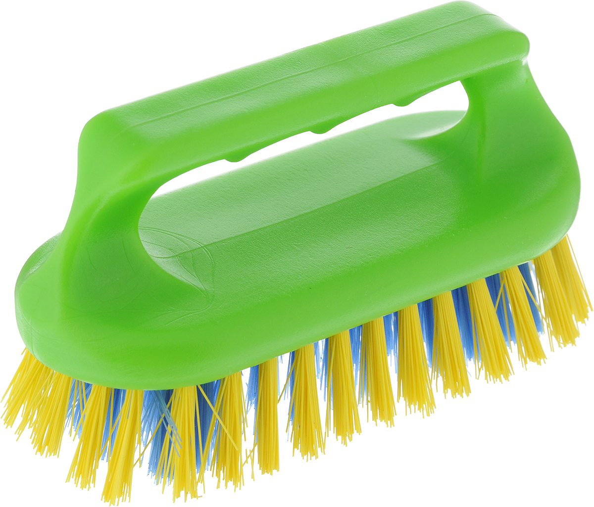 Щетка для ванны Хозяюшка Мила Сальвия, цвет: салатовый, желтый, синий24006_салатовый, желтый, синийЩетка для ванны Хозяюшка Мила Сальвия, изготовленная из высокопрочного пластика, идеально подходит для снятия сильных загрязнений. Удобная ручка делает процесс чистки комфортным, а форма щетки позволяет хорошо чистить даже труднодоступные места. Щетина средней жесткости не повреждает поверхность. Длина щетины: 2,5 см.