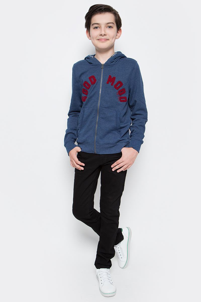 Толстовка для мальчика Tom Tailor, цвет: синий. 2531259.00.30_6758. Размер 1762531259.00.30_6758Толстовка для мальчика Tom Tailor выполнена из хлопкового материала. Модель с капюшоном и длинными рукавами спереди дополнена карманами и застегивается на молнию.