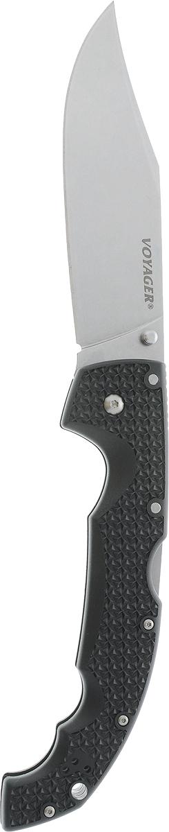 Нож складной Cold Steel Voyager, общая длина 30,5 смCS/29TXCCСкладной нож Cold Steel Voyager, выполненный в оригинальном стиле, станет отличным подарком для рыбака, охотника или человека, который ценит отдых на природе. Изделие имеет лезвие, изготовленное из нержавеющей стали. Нож можно удобно закрепить на поясе или кармане при помощи фиксированной клипсы. Рукоятка выполнена с отверстием для страховочного корда или ремня. Нож имеет дополнительную клипсу, которая может быть установлена на любую сторону ( для правши и для левши).Размер ножа в открытом виде: 30,5 см.Длина лезвия: 13 см.Длина в сложенном виде: 17,5 см.
