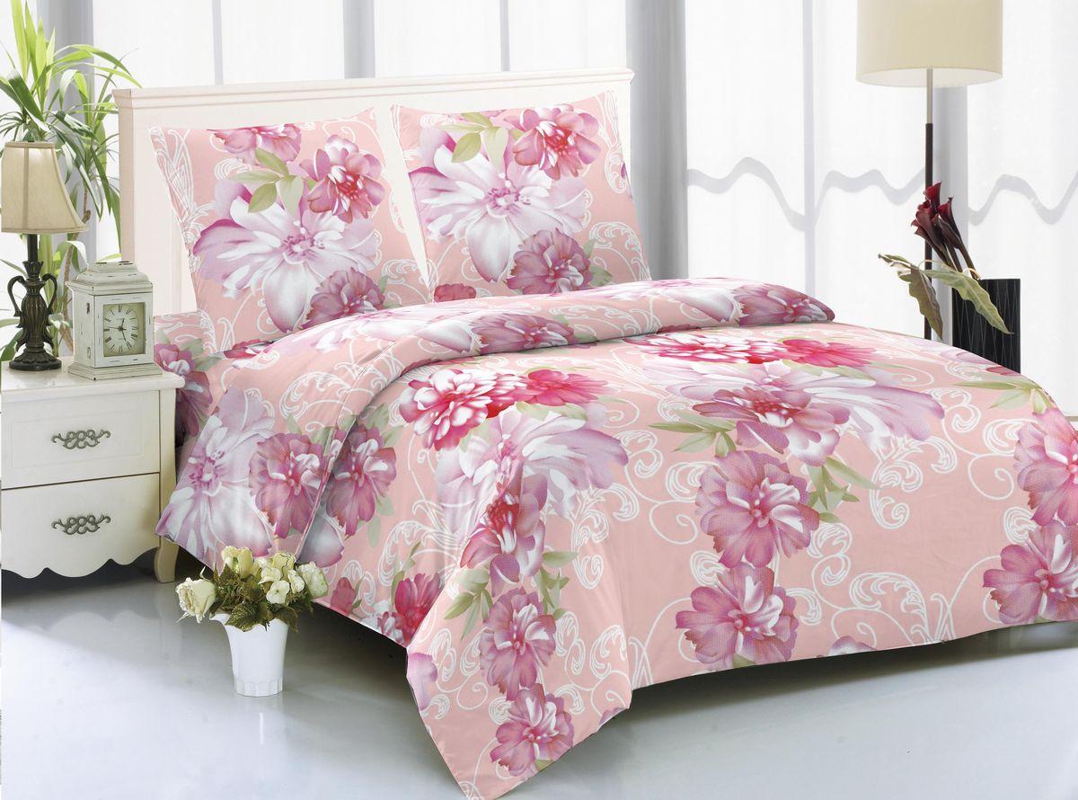 Комплект белья Amore Mio Klaipeda, 2-спальный, наволочки 70х70, цвет: розовый, белый85572Комплект постельного белья Amore Mio изготовлен из мако-сатина. Нано-инновации позволили открыть новую ткань, которая сочетает в себе широкий спектр отличных потребительских характеристик и невысокой стоимости. Легкая, плотная, мягкая ткань, приятна и обладает эффектом персиковой кожуры. Отлично стирается, гладится, быстро сохнет. Дисперсное крашение великолепно передает качество рисунков и необычайно устойчиво к истиранию.Комплект состоит из пододеяльника, простыни и двух наволочек.