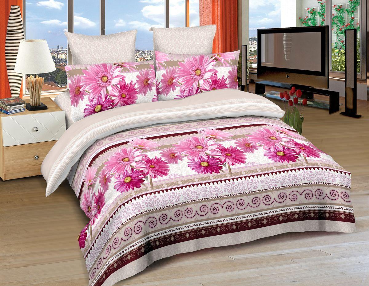 Комплект белья Amore Mio Sakai, 1,5-спальный, наволочки 70х70, цвет: розовый, коричневый, бежевый86481Постельное белье Amore Mio из сатина - оригинальные дизайны и отменное качество. Ткань изготовлена из 100% хлопка, плотная и легкая, яркие рисунки, отменное качество пошива.
