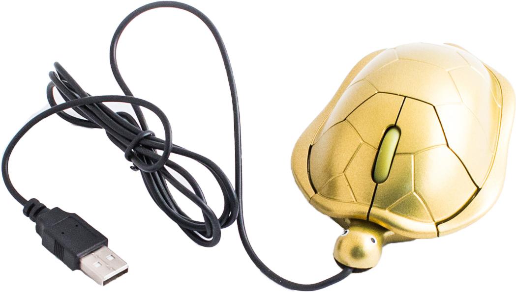Эврика Черепаха, Gold мышь92873Проводная оптическая USB-мышь версии 2.0 с подсветкой станет полезным и приятным подарком любому пользователю современной компьютерной техники. Модель подходит как для стационарных устройств, так и для ноутбуков. Компактна и позволяет работать в офисе, дома, в поездке. Обтекаемая форма обеспечивает максимум удобства во время работы. Бесшумное и плавное колесо прокрутки, легко сматываемый кабель, сувенирный дизайн.